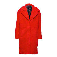 Marble Jacket Outerwear Faux Fur Punainen Svea