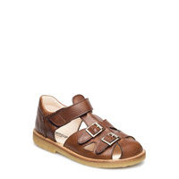 Sandal With Two Buckles In Front Shoes Summer Shoes Sandals Ruskea ANGULUS