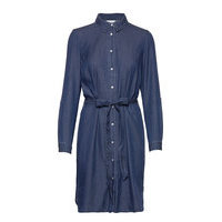 Vibista Denim Belt Dress/Su - Noos Polvipituinen Mekko Sininen Vila
