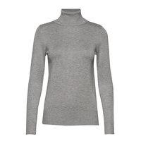 J2046, Roll Neck Sweater Kilpikonnakaulus Poolopaita Harmaa Saint Tropez