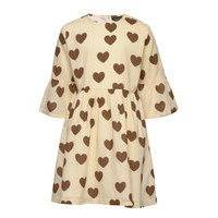 Hearts Flared Sleeve Dress Mekko Valkoinen Mini Rodini