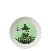 Moomin Plate Ø19cm Snufkin Home Meal Time Plates & Bowls Vihreä Arabia