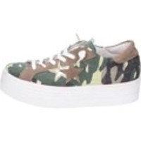 Kengät 2 Stars sneakers verde tessuto marrone camoscio ap710