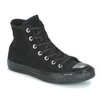 Kengät Converse CHUCK TAYLOR ALL STAR MONO PLUSH SUEDE HI BLACK/BLACK/BLACK