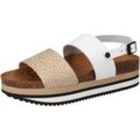 Sandaalit 5 Pro Ject sandali bianco pelle beige tessuto AC595