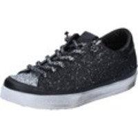 Kengät 2 Stars sneakers argento tessuto nero glitter BZ540