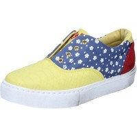 Kengät 2 Stars sneakers giallo tessuto blu camoscio BZ541