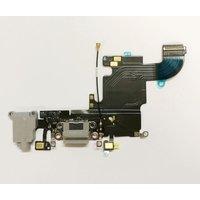 iPhone 6S Latausportti flex-kaapeli + kuulokeliitäntä + mikrofoni - Tumman harmaa