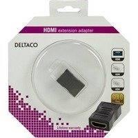 DELTACO HDMI-sovitin 19-pin naaras - naaras kullatut liittimet