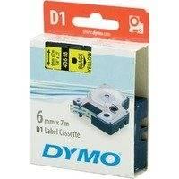 DYMO D1 merkkausteippi 6mm keltainen/musta teksti 7m