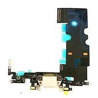 iPhone 8 Latausportti flex-kaapeli + kuulokeliitäntä + mikrofoni - Vaalean harmaa