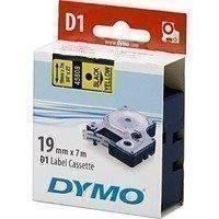 DYMO D1 merkkausteippi 19 mm keltainen/musta teksti 7 m