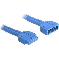 DeLOCK sisäinen jatkokaapeli USB 3.0 liitos IDC20 uros - naaras 0 45m sininen