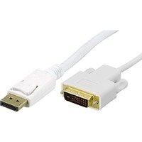 DELTACO DisplayPort - DVI monitorikaapeli 20-pin u-u 1 m