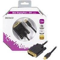 DELTACO mini DisplayPort - DVI-D Single Link monitorikaapeli 2m musta