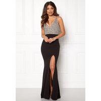 BUBBLEROOM Ivy embellished prom dress Black