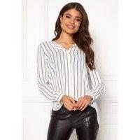 VILA Lucy L/S Shirt Snow White / Stripe
