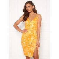 BUBBLEROOM Mirelle twist dress White / Yellow