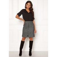 VERO MODA Toya Herringbone Skirt Black/White