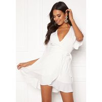 BUBBLEROOM Edie wrap dress White