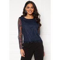 ONLY Lillie Lace Top Night Sky