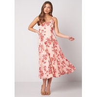 BUBBLEROOM Alana tie back dress Pink / Red
