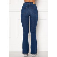 BUBBLEROOM Tove high waist flared superstretch Medium blue