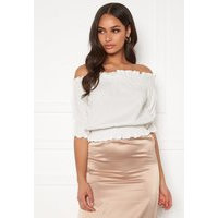 BUBBLEROOM Sanna off shoulder top White