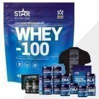 Whey-100, 4 kg + Bonustuote!, Star Nutrition