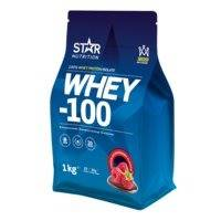 Whey-100, 4 kg, Mansikka, Improved flavour, Star Nutrition
