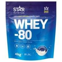 Whey-80, 4 kg, Suklaa, Star Nutrition