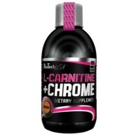 L-Carnitine + Chrome, 500 ml, Orange, Biotech USA