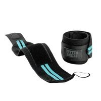 Womens Wrist Wraps, aqua blue, Better Bodies Gear