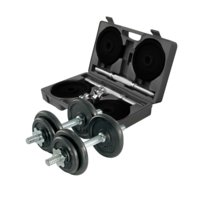 Adjustable dumbbell set, 2x10 kg, Gymstick
