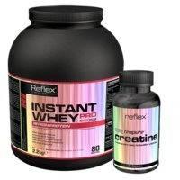 Instant Whey Pro, 2,2 kg + Creapure Creatine, 90 c, Reflex Nutrition