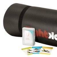 Fitness Mat 160 x 60 x 1,5 cm, Black, FightBack