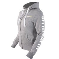 Fitnesstukku Hoodie, Grey, Women, L