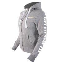 Fitnesstukku Hoodie, Grey, Women, M