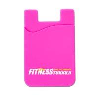 Fitnesstukku Silicone Card Holder, Pink, FITNESSTUKKU