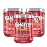 3 x Shatter SX-7, 30 Servings, MuscleTech