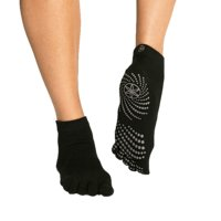 Black Grippy Yoga Socks (Medium/Large), Gaiam