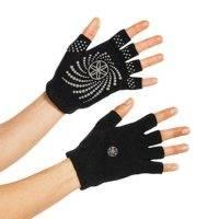 Black Grippy Yoga Gloves, Gaiam