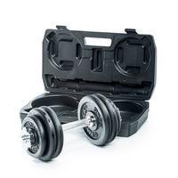 Adjustable Dumbbell Set, 15 kg, Gymstick