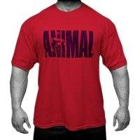T-Shirt, Animal Iconic, Red, Universal Nutrition