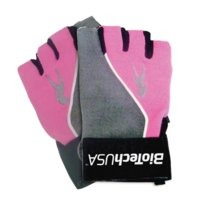 PinkFit, Gloves, Grey/Pink, Biotech USA