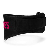 Womens gym belt, Black/pink, Better Bodies Gear