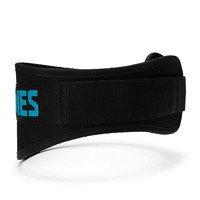 Womens gym belt, Black/aqua, Better Bodies Gear