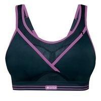 Ultimate Gym Bra, black/purple, Shock Absorber