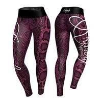 Boa Legging, Pink/Black, XL, Anarchy