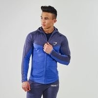 Fit Hodded Top, Navy/L blue
